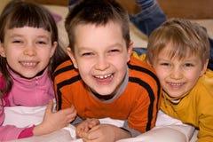 Ritratto dei bambini felici Fotografia Stock Libera da Diritti