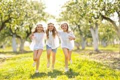 Ritratto dei bambini felici sulla natura Fotografie Stock