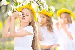Ritratto dei bambini felici sulla natura Immagine Stock Libera da Diritti