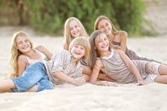 Ritratto dei bambini sulla spiaggia Immagine Stock Libera da Diritti