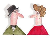 Ritratto dei coniugi di medio evo Immagine Stock Libera da Diritti