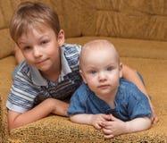 Ritratto dei fratelli. Immagini Stock