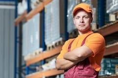 Ritratto dei lavoratori del magazzino immagine stock