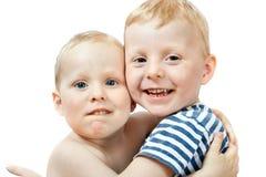 Ritratto dei piccoli fratelli Immagini Stock