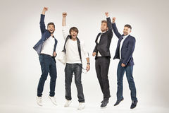 Ritratto dei quattro vincitori immagine stock