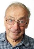Ritratto dei vetri da portare dell'uomo più anziano Immagine Stock Libera da Diritti