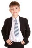 Ritratto del bambino di affari Fotografie Stock Libere da Diritti