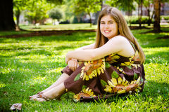 Ritratto del bambino di estate Fotografia Stock Libera da Diritti