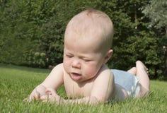 Ritratto del bambino di 4 mesi. Fotografie Stock