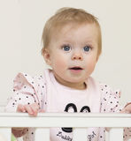 Ritratto del bambino di 9 mesi. Fotografia Stock