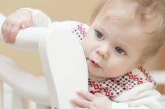 Ritratto del bambino di 9 mesi. Fotografie Stock