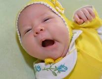 Ritratto del bambino di sbadiglio Fotografia Stock