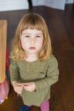Ritratto del bambino provocatorio del fronte Immagine Stock Libera da Diritti