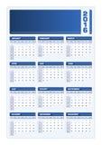 Ritratto del blu di vettore di 2016 calendari Illustrazione di Stock