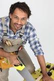 Ritratto del carpentiere Fotografia Stock