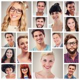 Ritratto 4x4 del collage della gente Fotografie Stock Libere da Diritti