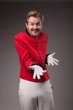 Ritratto del concierge sorpreso (portatore) Immagine Stock
