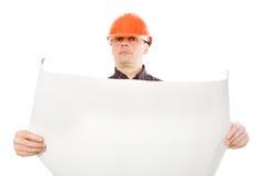Ritratto del costruttore della costruzione Fotografia Stock Libera da Diritti