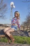 Ritratto del cowgirl fotografia stock