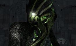 Ritratto del Cyborg Immagini Stock Libere da Diritti