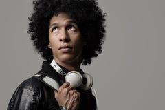 Ritratto del DJ di musica Immagine Stock Libera da Diritti