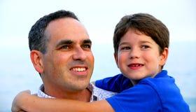 Ritratto del figlio del padre Fotografie Stock