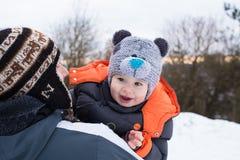 Ritratto del figlio e del papà Fotografie Stock Libere da Diritti