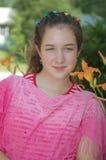 Ritratto del fogliame della giovane signora Fotografia Stock Libera da Diritti