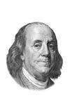 Ritratto del Franklin su cento dollari di fattura. Immagini Stock Libere da Diritti