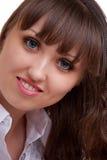 Ritratto del fronte della bella ragazza Fotografia Stock Libera da Diritti