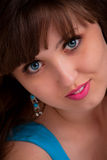 Ritratto del fronte della bella ragazza Fotografie Stock Libere da Diritti