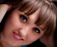 Ritratto del fronte della bella ragazza Immagini Stock Libere da Diritti