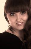 Ritratto del fronte della bella ragazza Fotografie Stock