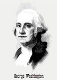 Ritratto del George Washington Immagine Stock Libera da Diritti