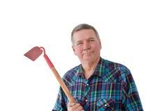 Ritratto del giardiniere maturo Fotografia Stock Libera da Diritti
