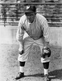 Ritratto del giocatore di baseball (tutte le persone rappresentate non sono vivente più lungo e nessuna proprietà esiste Garanzie Fotografia Stock Libera da Diritti