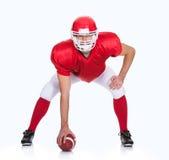 Ritratto del giocatore di football americano fotografia stock