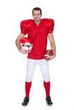 Ritratto del giocatore di football americano immagine stock
