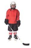 Ritratto del giocatore di hokey del ghiaccio Fotografia Stock Libera da Diritti