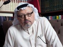 Ritratto del giornalista saudita Jamal Khashoggi del ` s di Washington Post fotografia stock