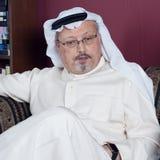 Ritratto del giornalista saudita Jamal Khashoggi del ` s di Washington Post immagini stock