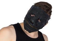 Ritratto del giovane nella maschera Fotografie Stock Libere da Diritti
