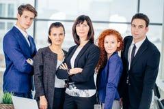 Ritratto del gruppo dei colleghi di affari corporativi immagine stock libera da diritti