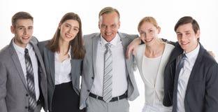 Ritratto del gruppo della gente di affari immagini stock libere da diritti