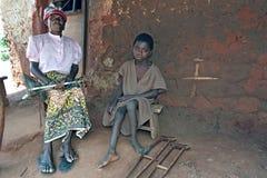 Ritratto del gruppo della nonna e del nipote del Ghana Fotografie Stock Libere da Diritti
