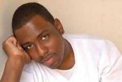 Ritratto del maschio dell'afroamericano Fotografia Stock