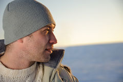Ritratto del maschio di inverno. Fotografia Stock Libera da Diritti