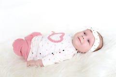 Ritratto del 1 mese adorabili di neonata Fotografia Stock
