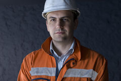 Ritratto del minatore immagini stock