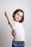 Ritratto del modello di moda asiatico sveglio del bambino Fotografia Stock